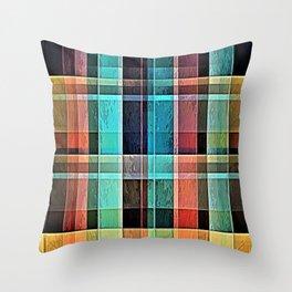 Plaid 17 Throw Pillow