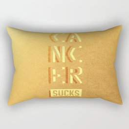 Cancer Sucks Rectangular Pillow