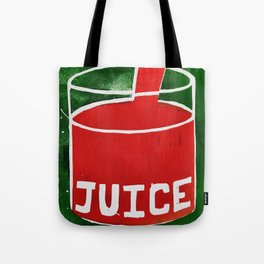 Juice - Red and Green - Dream Pop Art Tote Bag