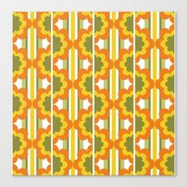'70's Summer' Orange Yellow Green Canvas Print