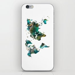 Map of the World tree #map #world iPhone Skin