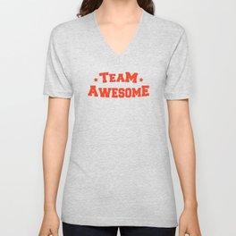 Team Awesome Unisex V-Neck