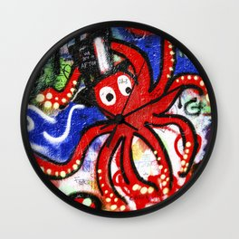 Octopus Party Wall Clock