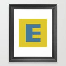 E is for Emeline :-) Framed Art Print