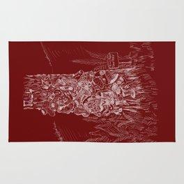 Shoetree in Deep Red Rug