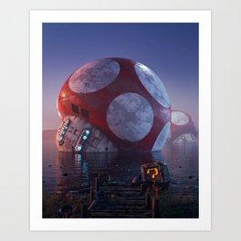 Mario Super Mushroom Art Print