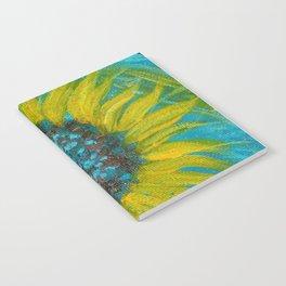 Sunflowers on Turquoise II Notebook
