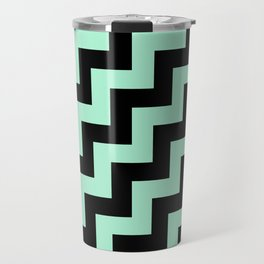 Black and Magic Mint Green Steps RTL Travel Mug