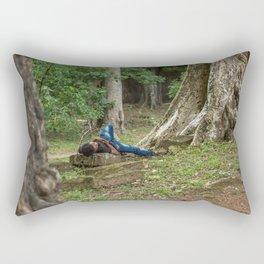 Afternoon Nap Near Baphuon Temple, Angkor Thom, Siem Reap, Cambodia Rectangular Pillow