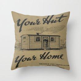 Vintage poster - New Zealand Railways Throw Pillow