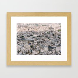 Paris City View from Sacre Coeur Framed Art Print