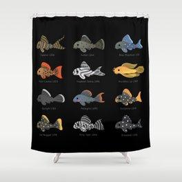 Pleco! Shower Curtain