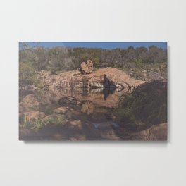 Inks Lake Reflection Metal Print