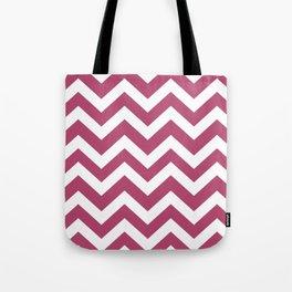 Irresistible - purple color -  Zigzag Chevron Pattern Tote Bag