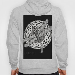 Zentangle Dragonfly Black and White Illustration Hoody