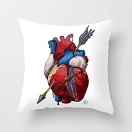 Heart Attack Throw Pillow