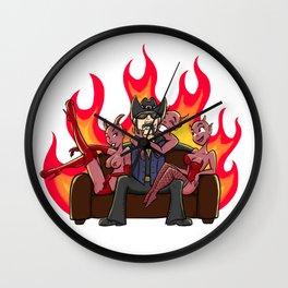 Lemmy in hell Wall Clock