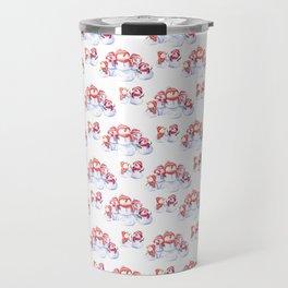 Snowman pattern Travel Mug