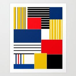 Abstract pattern . Credo . Art Print