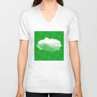 cloud V-neck T-shirts featuring Cloud by Mr and Mrs Quirynen