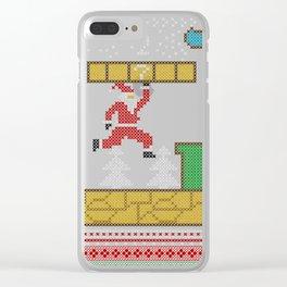 Mario Santa Claus Clear iPhone Case