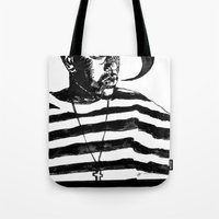 kendrick lamar Tote Bags featuring Kendrick Lamar by Paganimal