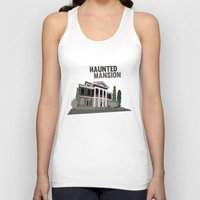 haunted mansion Tank Tops featuring new Orleans square.. haunted mansion by studiomarshallarts