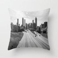 atlanta Throw Pillows featuring Atlanta by Trey Visions