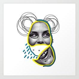 Only happy when it rains Art Print
