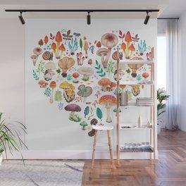 Mushroom heart Wall Mural
