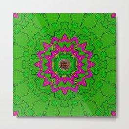 vegetarian greens and fish pop art Metal Print