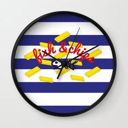 Fish & Chips Wall Clock