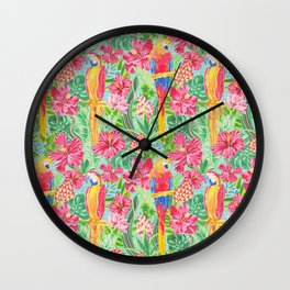 Land Of The Giant Hibiscus Wall Clock