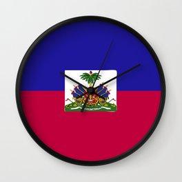 Haiti flag emblem Wall Clock