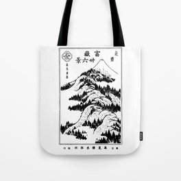 View of Mount Fuji Japanese Ukiyo-E Tote Bag