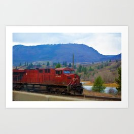The Columbia Line Train Run Art Print