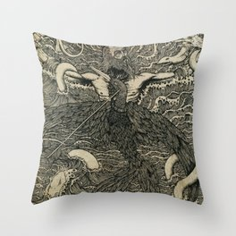 Albatross {black & white}. Throw Pillow