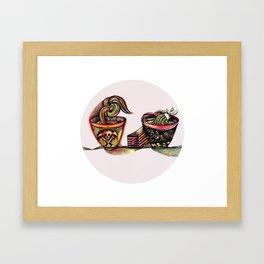 Two Bowls Framed Art Print
