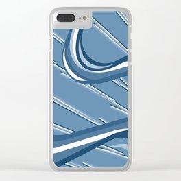 Electric Flow Blu Clear iPhone Case