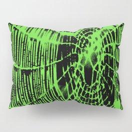 Intricate Halloween Spider Web Green Palette Pillow Sham