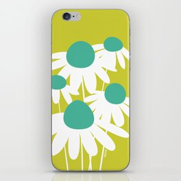 Flowers on Green by Friztin iPhone Skin
