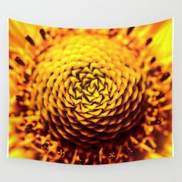 Yellow Sprial Wall Tapestry