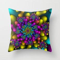 Rainbow Fireworks  Throw Pillow