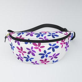 Valentine's Day Watercolor Floral Pattern Fanny Pack