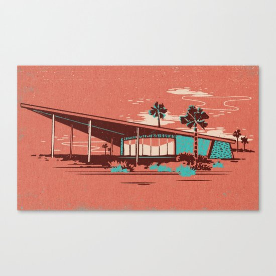 PALM SPRINGS VISITOR CENTRE Canvas Print