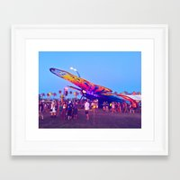 coachella Framed Art Prints featuring coachella butterfly by katelyndee