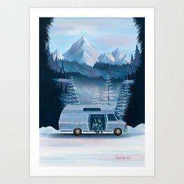 Canada Series: Coffee Break, Jasper Art Print