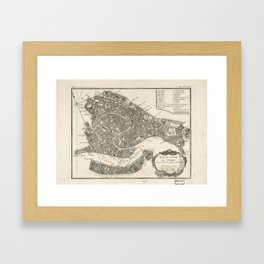 Vintage Map of Venice Italy (1764) Framed Art Print