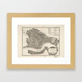 Vintage Map of Venice Italy (1764) Framed Art Print