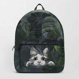 Jungle cat at night Backpack